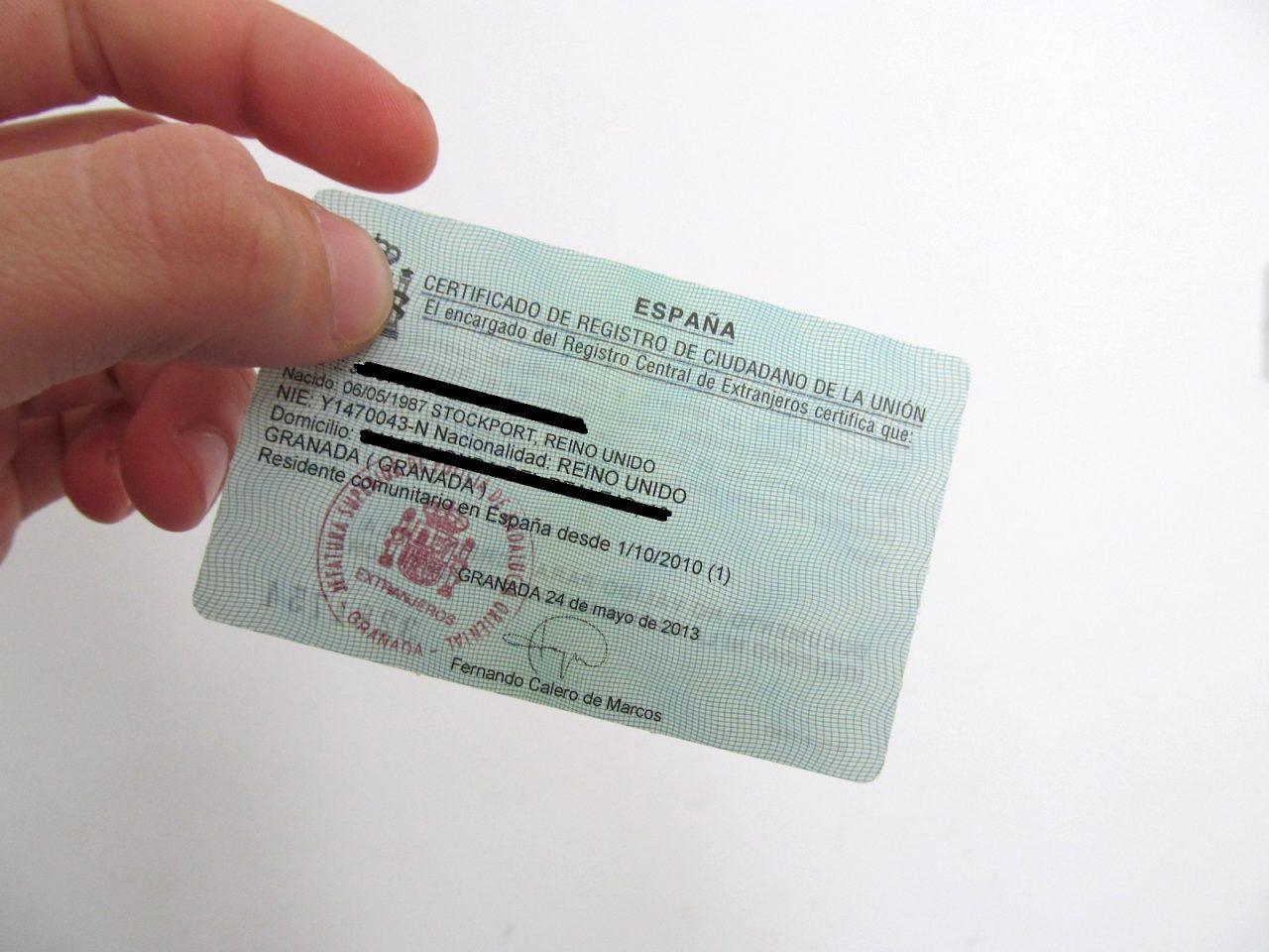 Идентификационная карта в Испании