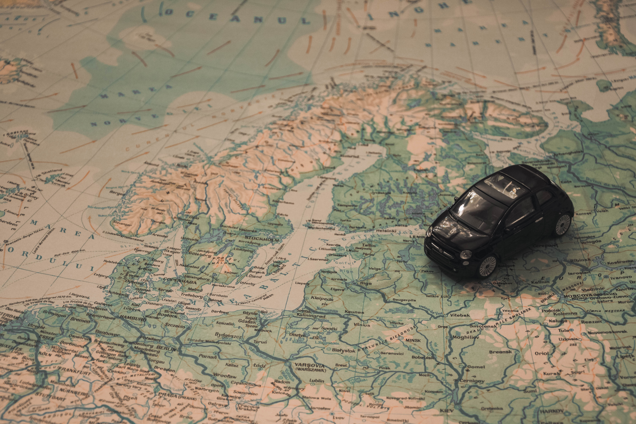Часть карты Европы