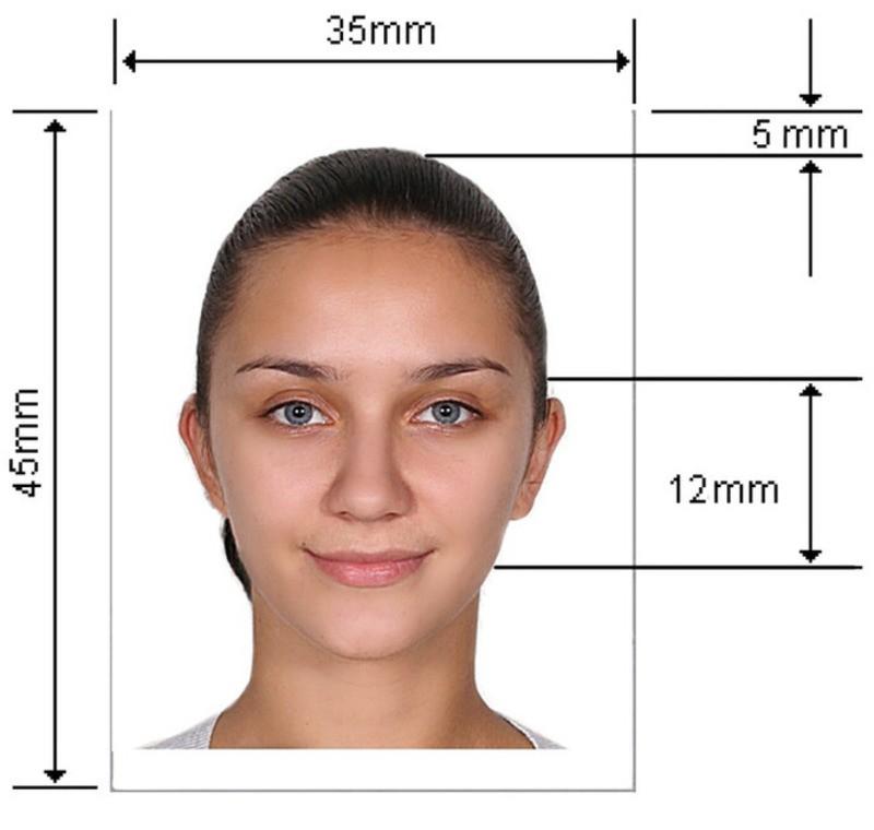 Образец фото на паспорт РФ