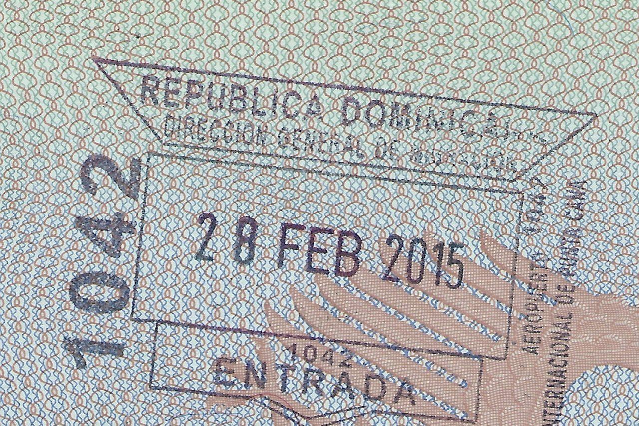 Штамп о прибытии в Доминикану