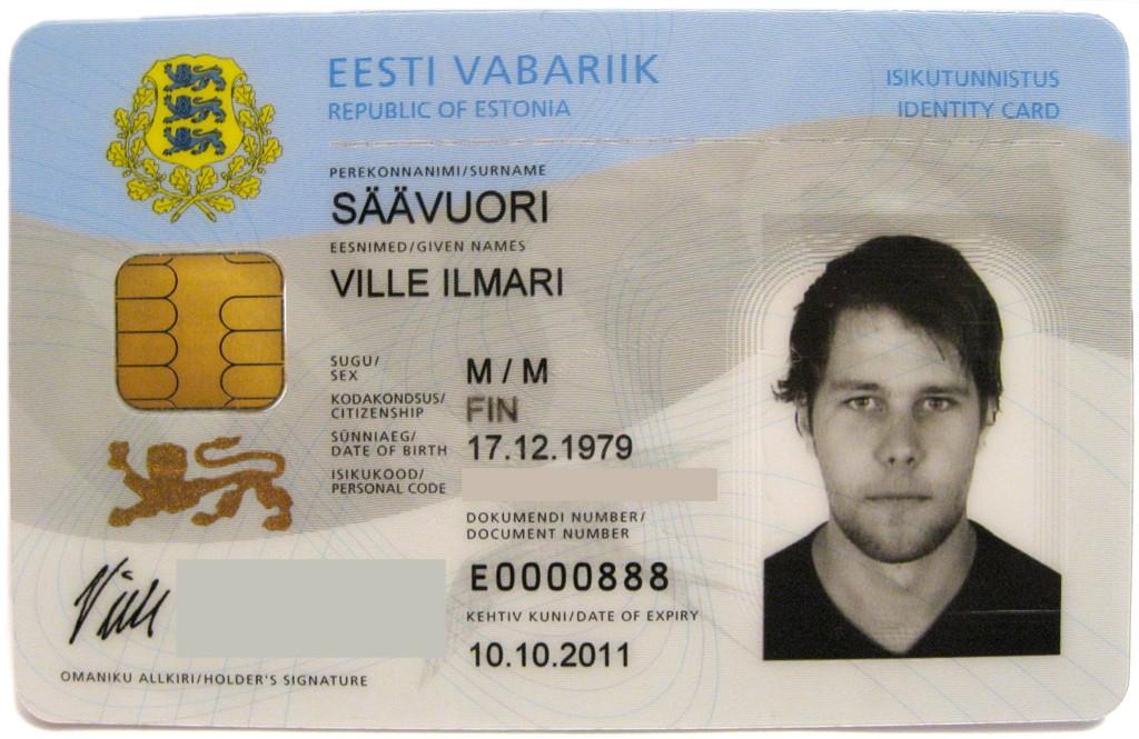 Национальное удостоверение личности в Эстонии