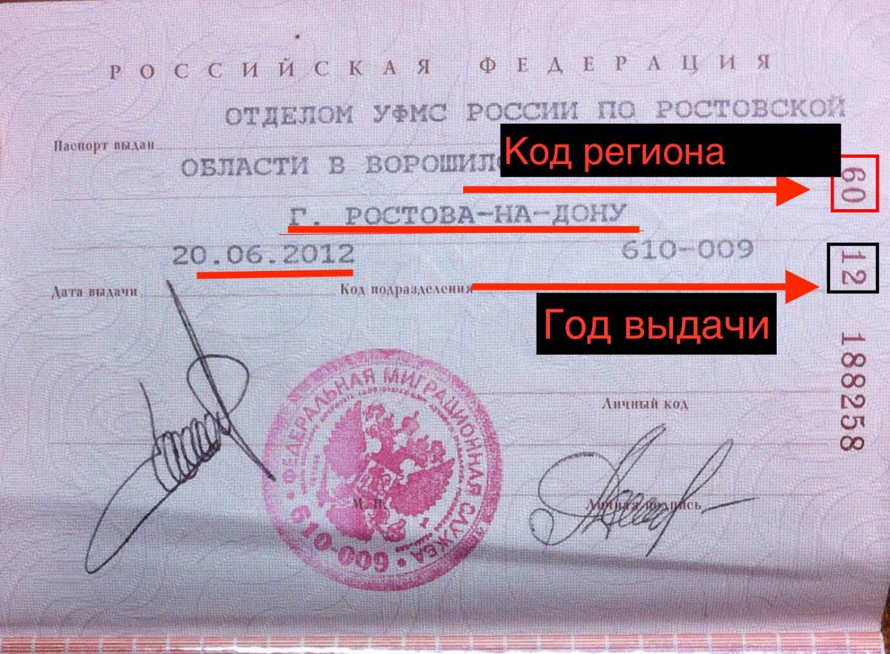 Серия паспорта Ростовской области