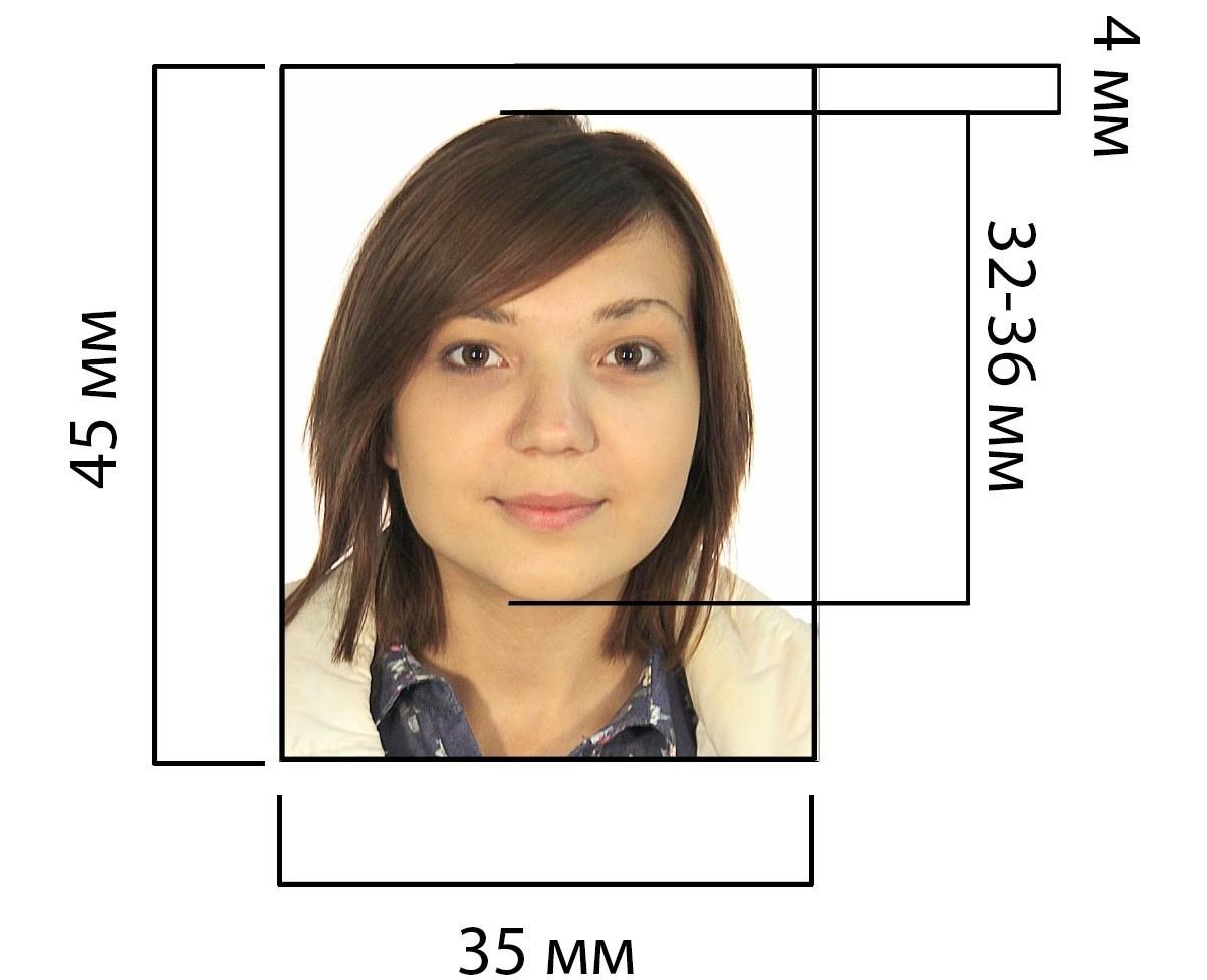 Пример фото на визу